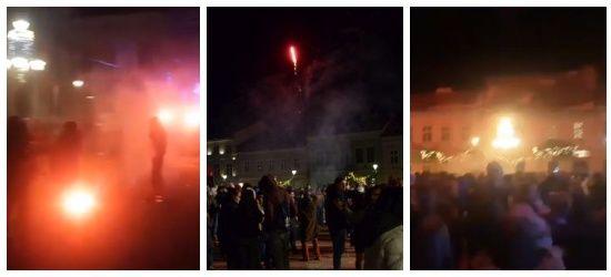 """SYLWESTER SANOK: """"Skrajna głupota!"""". Niebezpieczne wybuchy fajerwerków w tłumie!"""