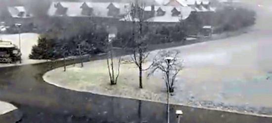 BIESZCZADY: Pierwszy śnieg tej jesieni (VIDEO)