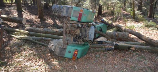 Wypadek podczas prac leśnych. Mężczyzna w ciężkim stanie (FOTO)