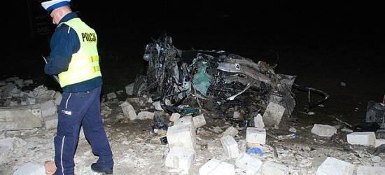Śmiertelny wypadek w Baryczce. Kierowca audi nie żyje (FILM, ZDJĘCIA)