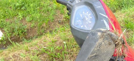 POWIAT BRZOZOWSKI: Pijana motorowerzystka wjechała do rowu (ZDJĘCIA)