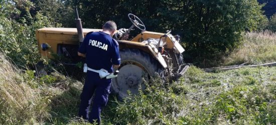 Traktor przejechał 81-latka (FOTO)