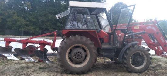 REGION: Przewrócony ciągnik. Traktorzysta pijany