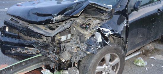 Groźny wypadek w Krośnie. Trzy osoby w szpitalu (FOTO)