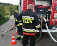 Duży pożar lasu w Sanoku. W ramach ćwiczeń radzili sobie z nim strażacy z wielu jednostek (FILM, ZDJĘCIA)