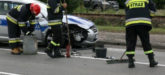 PODKARPACIE: Nietrzeźwy kierujący uderzył w policyjny radiowóz