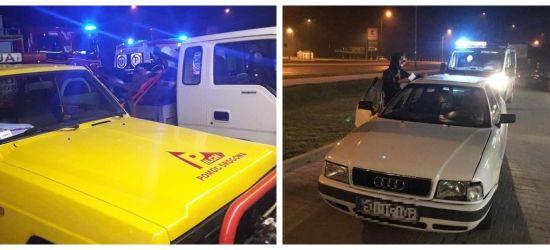 SANOK: Uderzył w audi i uciekł z miejsca zdarzenia. 18-latek był poszukiwany przez policję (FOTO)