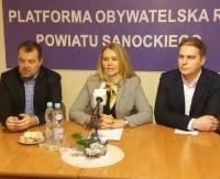 SANOK: Działacze Platformy Obywatelskiej zwołali konferencję prasową. Ocenią budżet powiatu (RETRANSMISJA)