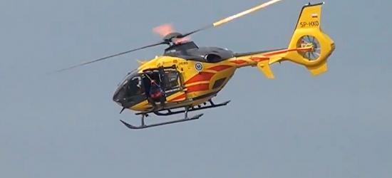 13-latek z prętem w ręce przetransportowany śmigłowcem do szpitala