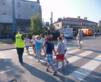 """""""Bezpieczna droga do szkoły"""" z sanocką policją"""