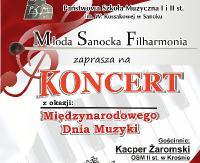 CZWARTEK:  Młoda Sanocka Filharmonia zaprasza na koncert z okazji Międzynarodowego Dzień Muzyki