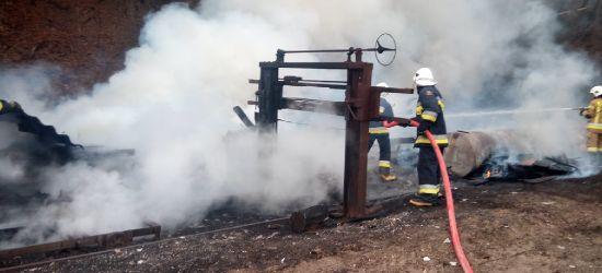 Pożar drewnianej szopy i zabudowań (FOTO)