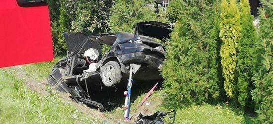 REGION: Dachowanie w rowie. Niestety, kierujący nie przeżył (FOTO)