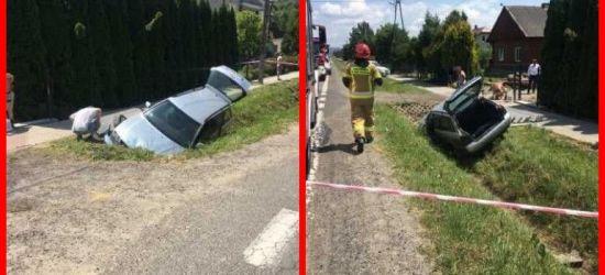 BESKO: Zderzenie samochodów. Jeden uderzył w przepust (FOTO)