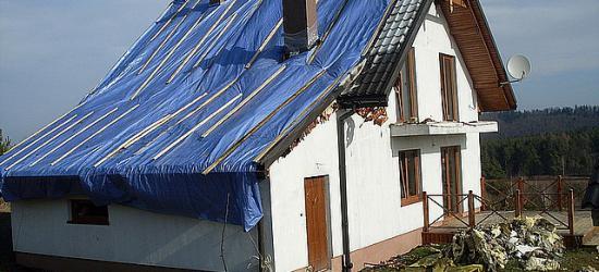 Pożar niezamieszkanego domu w Myczkowie. Właściciel oszacował straty na ok. 100 tysięcy