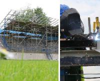 WIERCHY SANOK: Prace wykończeniowe wewnątrz. Remont dachu i trybuny na zewnątrz (ZDJĘCIA)