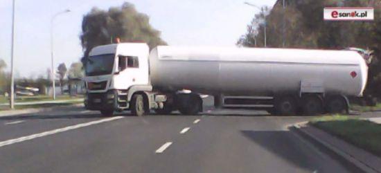 SANOK: Nagranie z samochodu. Tym razem Królowej Bony i podwójna ciągła (VIDEO)