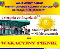GMINA SANOK: Wakacyjny piknik w Niebieszczanach