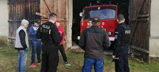 Kradzież akumulatora z wozu strażackiego. Sprawca ustalony