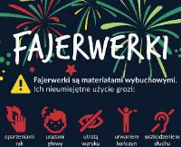 UWAGA: Zachowaj ostrożność przy używaniu fajerwerków