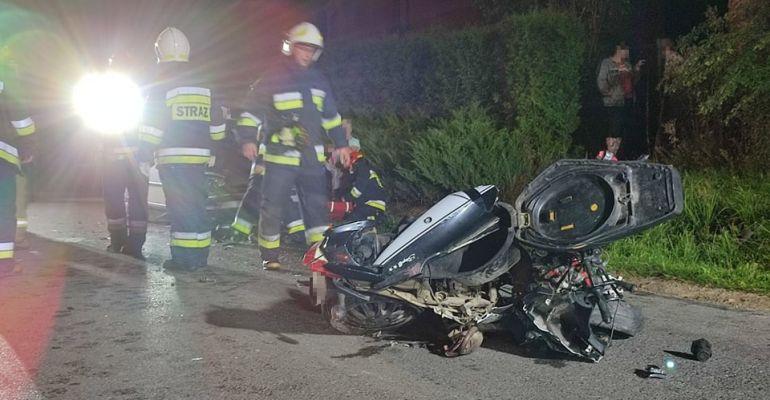 Zderzenie motocykla z osobówką w Strachocinie! (FOTO)