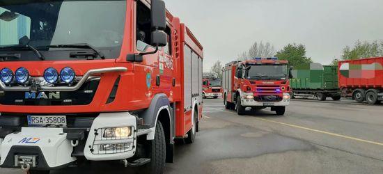 AKTUALIZACJA/ZAGÓRZ: Pożar maszyny w jednej z hal (FOTO)