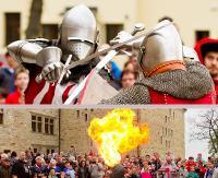 SANOK: Salwy armatnie, tańce z ogniem, walki rycerskie! Zobacz jak bawiono się na ślubie Władysława Jagiełły (FILM, ZDJĘCIA)
