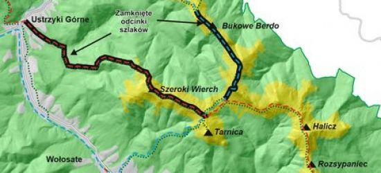 Dziś i jutro zamknięte szlaki w Bieszczadach!