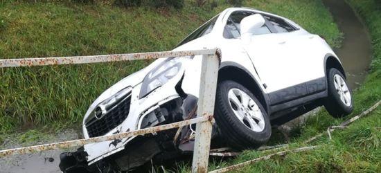 SANOK: Samochód strącony do Potoku Płowieckiego (ZDJĘCIA)