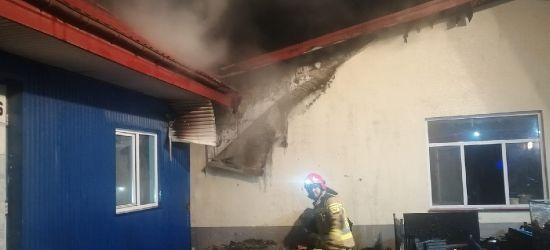 SANOK. Pożar w dwóch halach produkcyjnych na Dąbrówce! (ZDJĘCIA)