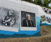 Największy sanocki mural odsłania kolejne tajemnice (ZDJĘCIA)