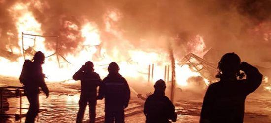 PODKARPACIE: Ogromy pożar w zakładzie produkującym folie (FOTO)