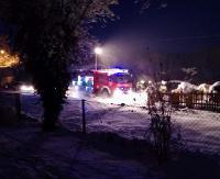 TARNAWA DOLNA: Ogień w piwnicy. Paliła się sauna (ZDJĘCIA)