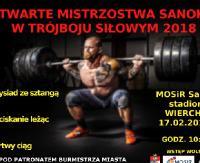 SOBOTA: Otwarte Mistrzostwa Sanoka w trójboju siłowym 2018
