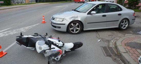 REGION: Wymusił pierwszeństwo. 16-letni motocyklista w szpitalu (ZDJĘCIA)