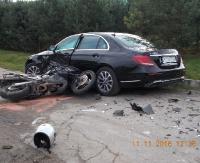 SANOK: Śmierć na drodze. Motocyklista uderzył w osobówkę (ZDJĘCIA)