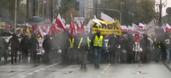 Tłumy rolników na ulicach stolicy. Manifestacje, transparenty, ostre słowa (VIDEO)