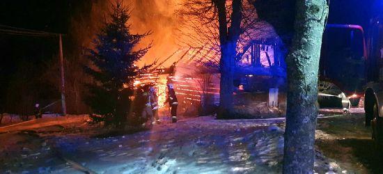 """POWIAT BRZOZOWSKI: Pożar domu. """"Budynek stał w ogniu"""" (ZDJĘCIA)"""