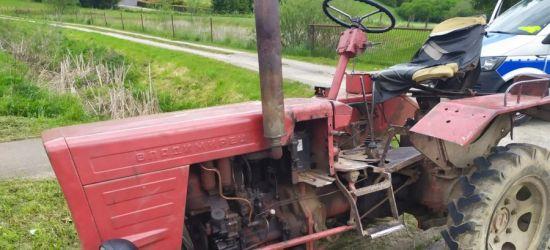 Nietrzeźwy traktorzysta. Bez prawa jazdy i ubezpieczenia