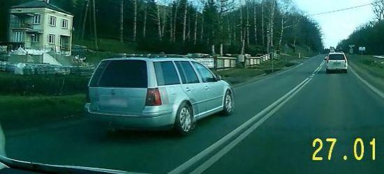 ZAHUTYŃ: Wyprzedzanie na podwójnej ciągłej i na skrzyżowaniu (VIDEO)