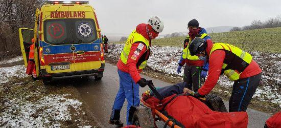 PIELNIA: Wypadek podczas ścinania drzewa (FOTO)