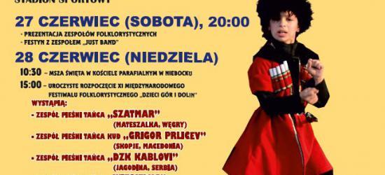 """XI Międzynarodowy Festiwal Folklorystyczny """"Dzieci Gór i Dolin"""" w Niebocku"""