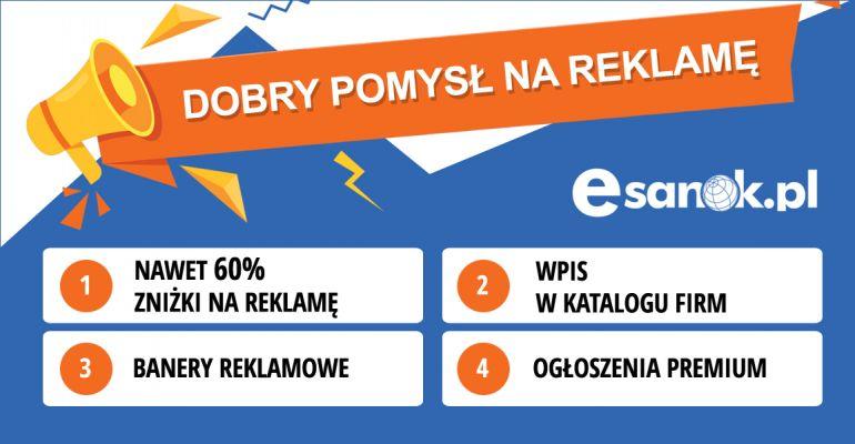 MEGA PROMOCJE na reklamę w eSanok.pl. Pakiety reklamowe jużod 299 zł!