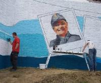 Powstaje sanocki mural. Efekt ma być niespodzianką (ZDJĘCIA)