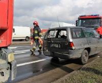 UWAGA: Wypadek na ul. Krakowskiej w Sanoku. Jedna osoba przewieziona do szpitala (ZDJĘCIA)