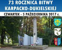 73. rocznica Operacji Karpacko-Dukielskiej. Finał uroczystości zaplanowano w Nowosielcach