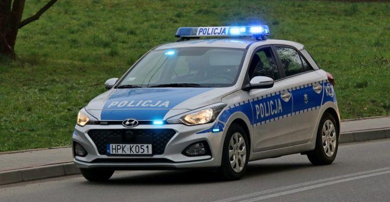 Nieszczęśliwy wypadek i policyjna eskorta!