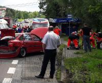 Zderzenie dwóch osobówek w Jurowcach. Sześć osób poszkodowanych (ZDJĘCIA)