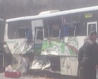 UWAGA WYPADEK: Zderzenie autobusu relacji Sanok – Rzeszów z tirem. Jedna osoba poważnie ranna (ZDJĘCIA)