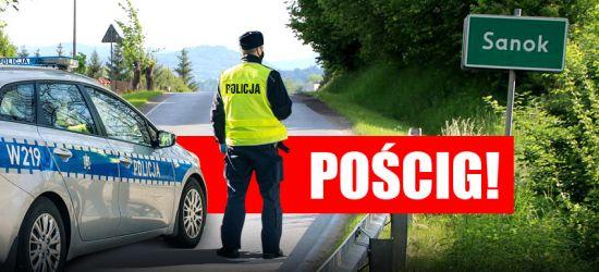 SANOK: Policyjny pościg za pijanym 21-latkiem (ZDJĘCIA)
